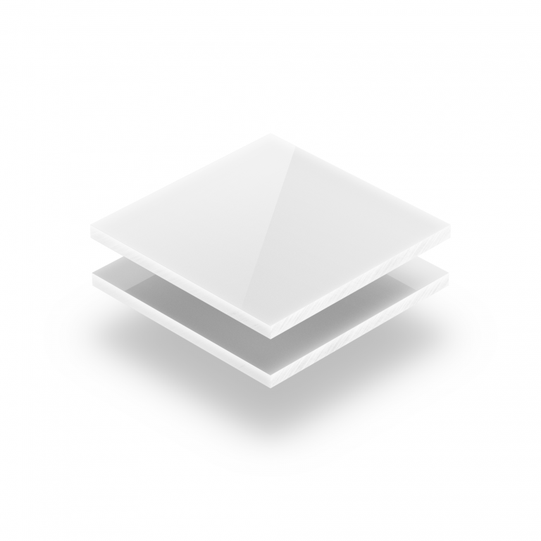 White solid PVC sheet RAL 9003
