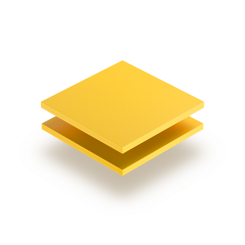Yellow PVC foam sheet RAL 1023