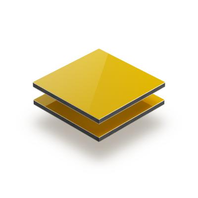 Yellow aluminium composite panel RAL 1023
