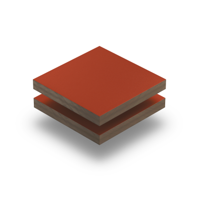 HPL texture sheet 6 mm coral red RAL 3016