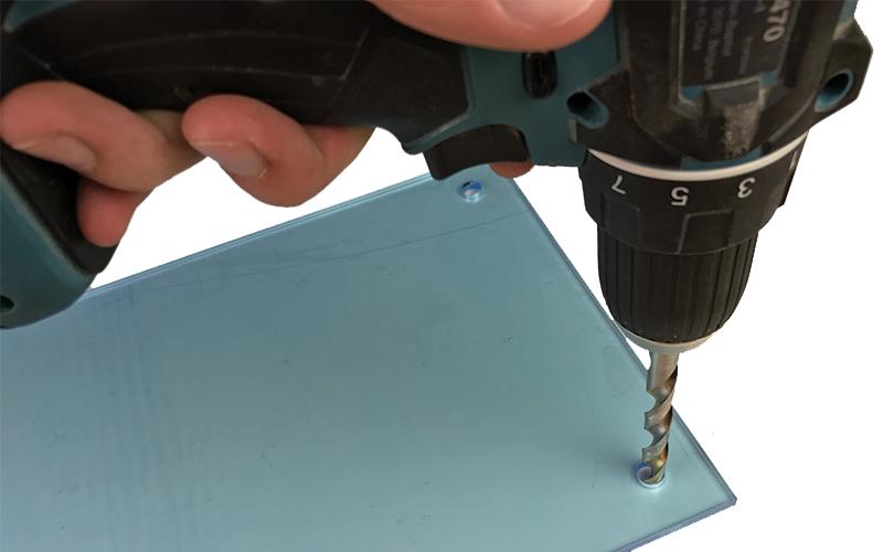 DIY Knife block drill acrylic