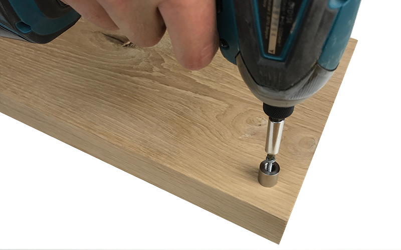 DIY Knife block spacer drill
