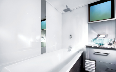 Acrylic bathroom cladding