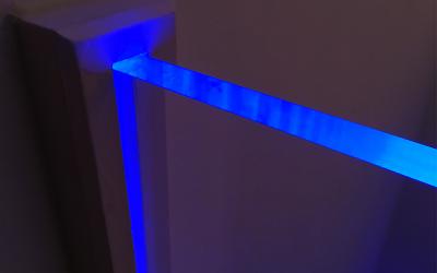 Edge-lit acrylic