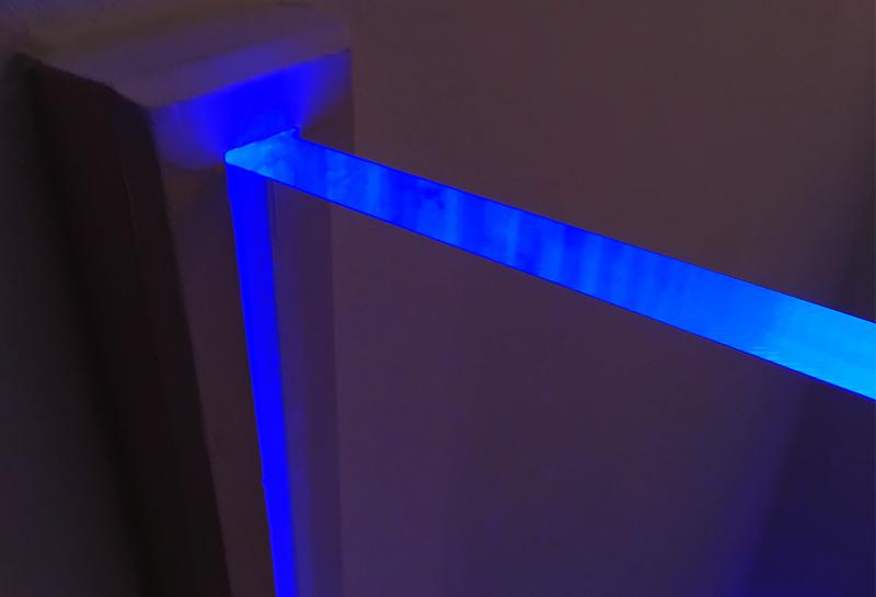 Edge lit acrylic
