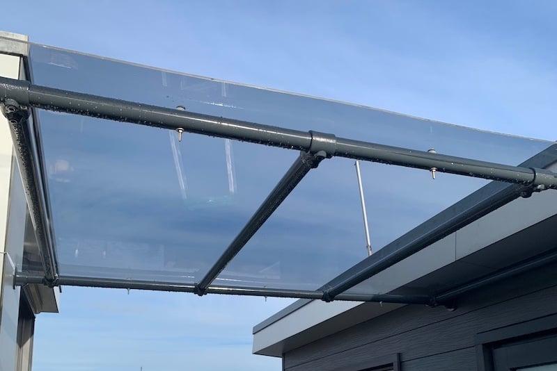 canopy made of tinted plexiglass