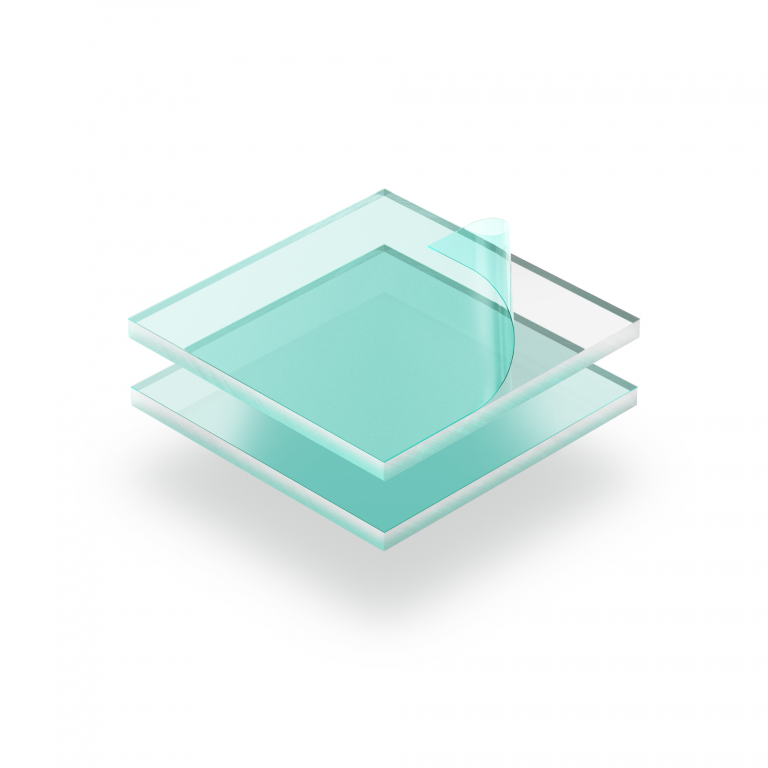 Transparent acrylic sheet with protective film