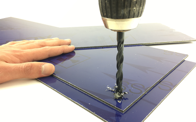Drilling aluminium composite sheets