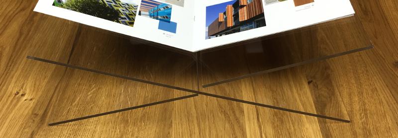 Plexiglass bookstand