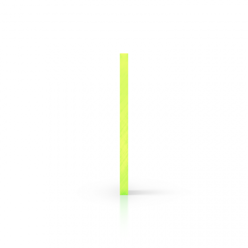 Side acrylic sheet fluorescent green
