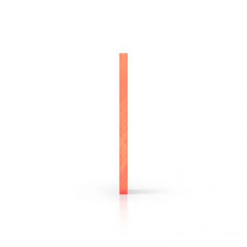 Side acrylic sheet fluorescent orange