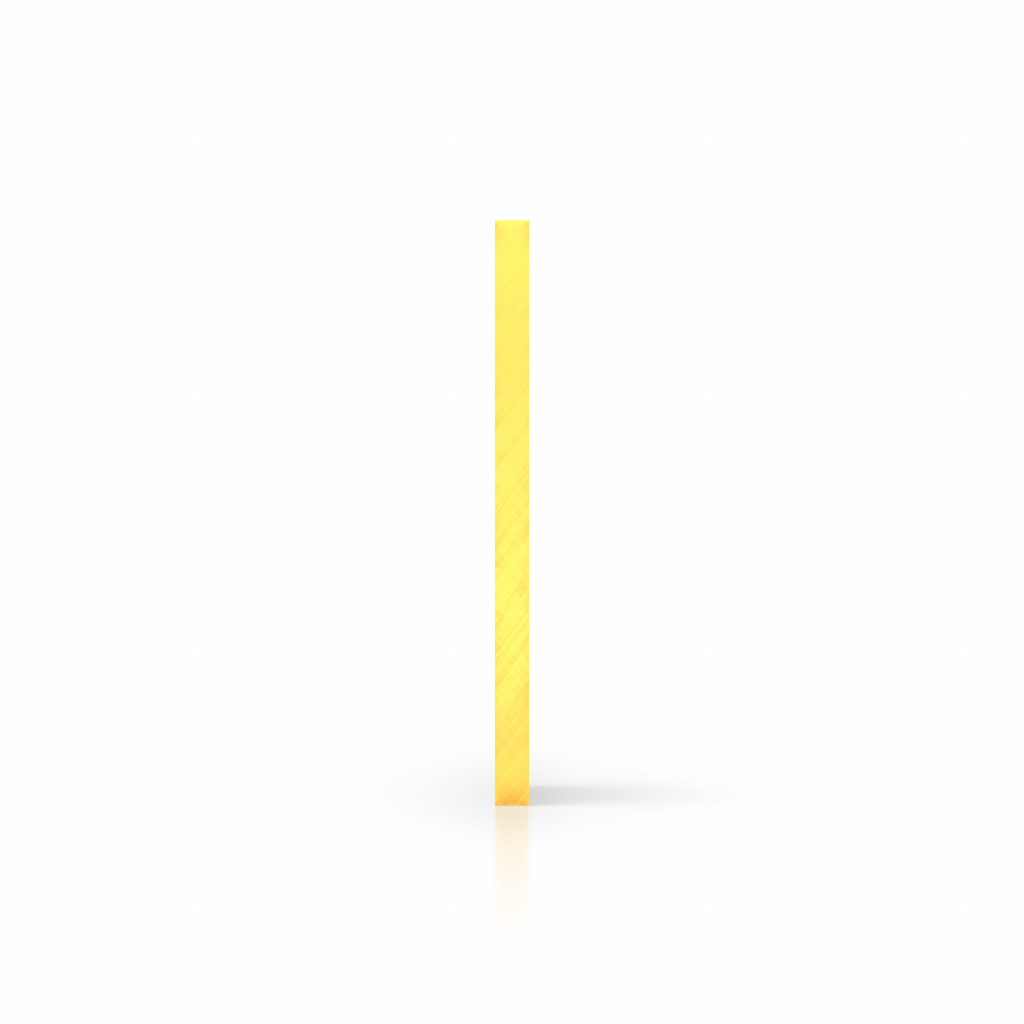 Side acrylic sheet fluorescent yellow