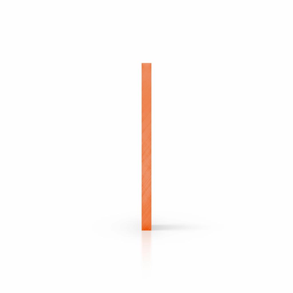 Side acrylic sheet tinted orange