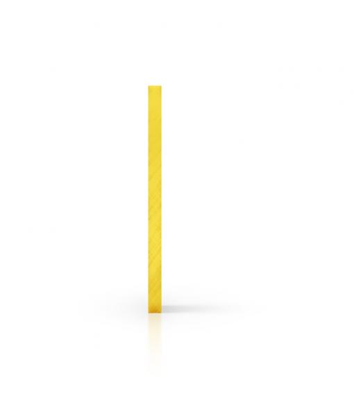 Side acrylic sheet tinted yellow