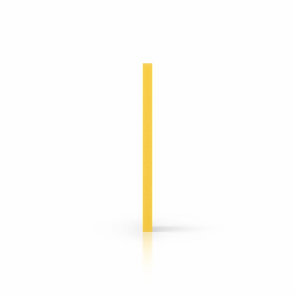Side foamed PVC yellow