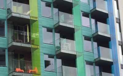 Acrylic balcony glazing
