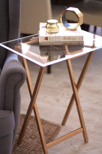 Small acrylic side table