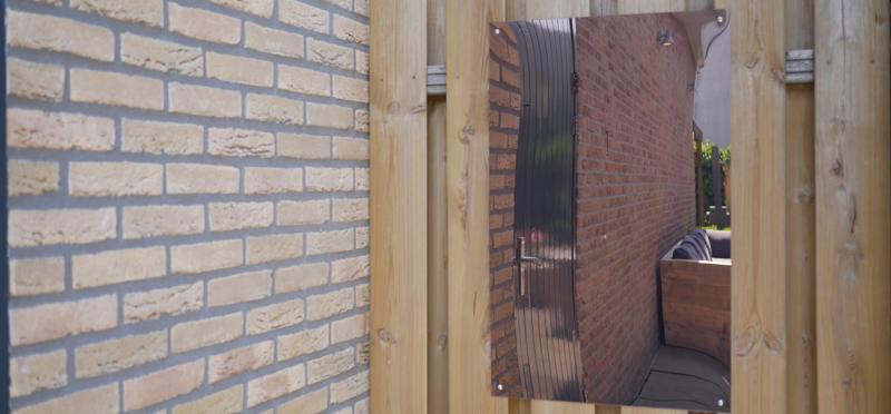 garden mirror without frame