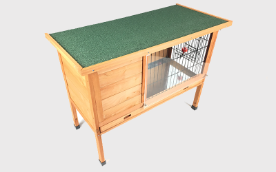 Create a windshield for a rabbit cage