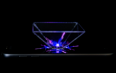 Make a hologram from acrylic