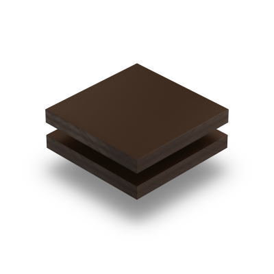 HPL texture sheet 6 mm chocolate brown RAL 8017