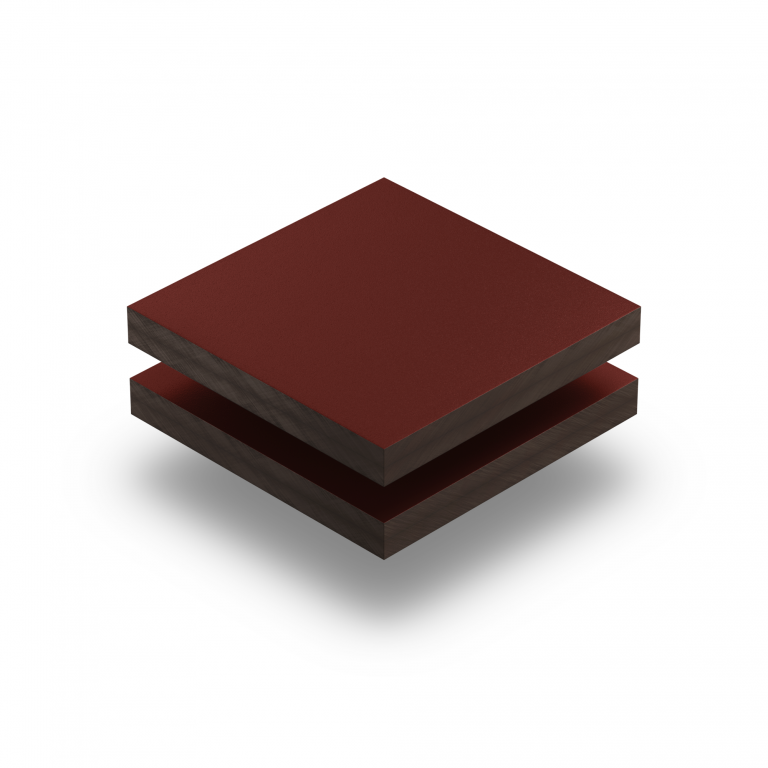 HPL texture sheet 6 mm wine red RAL 3005
