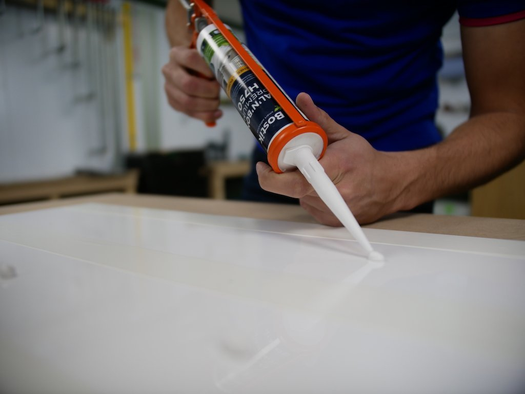 glueing perspex with high tack adhesive