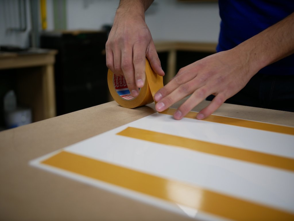 IKEA play kitchen hack apply double sided tape