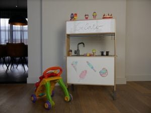 IKEA play kitchen hack result