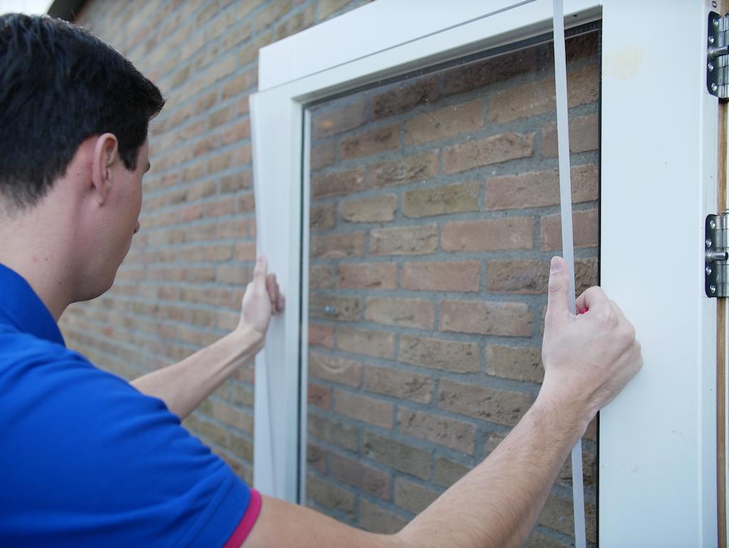 Replace a window glass attach acrylic sheet