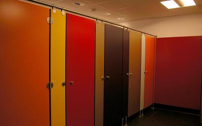Plastic bathroom wall panels