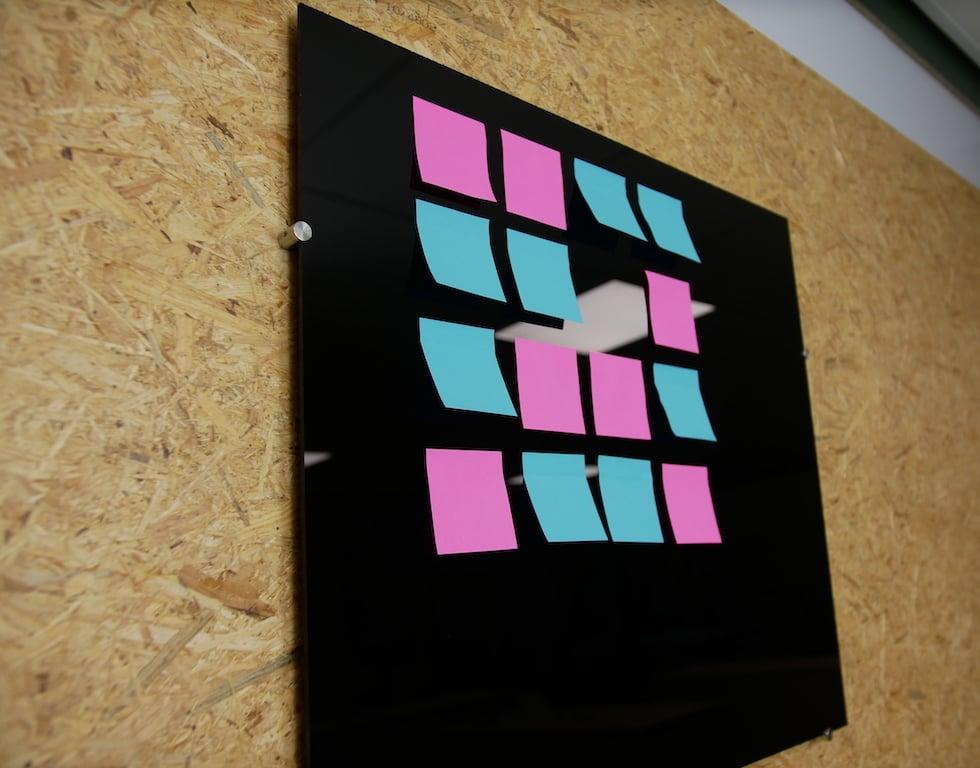 DIY plastic memo board