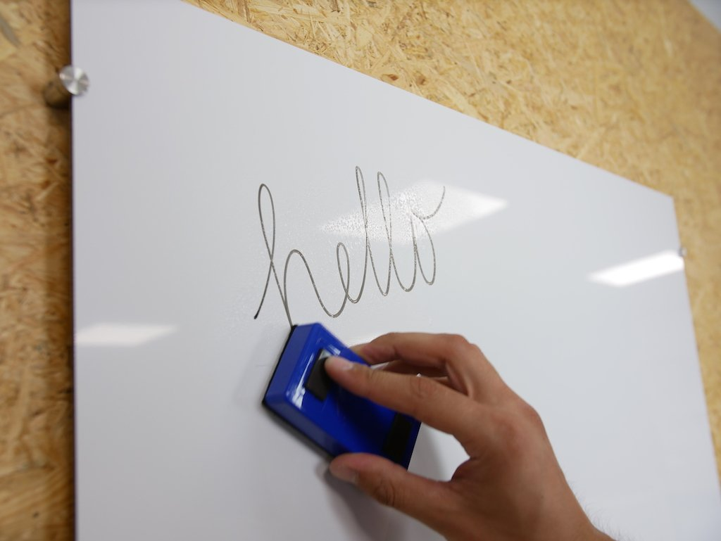 Whiteboard made from ACP
