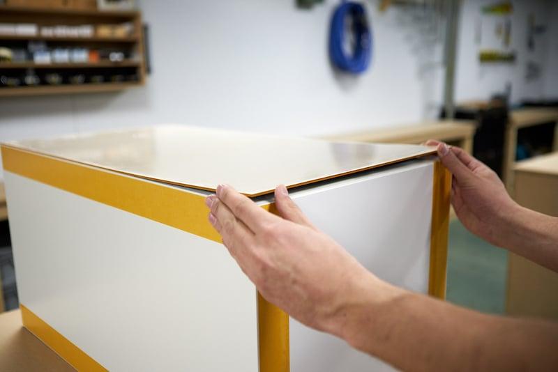 Apply acrylic sheets to Kallax closet