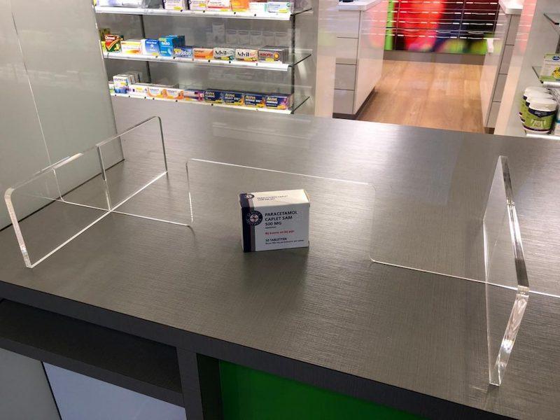 Counter screen pharmacy
