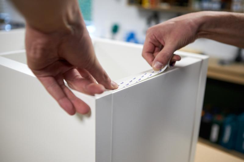 IKEA Kallax hack apply tape