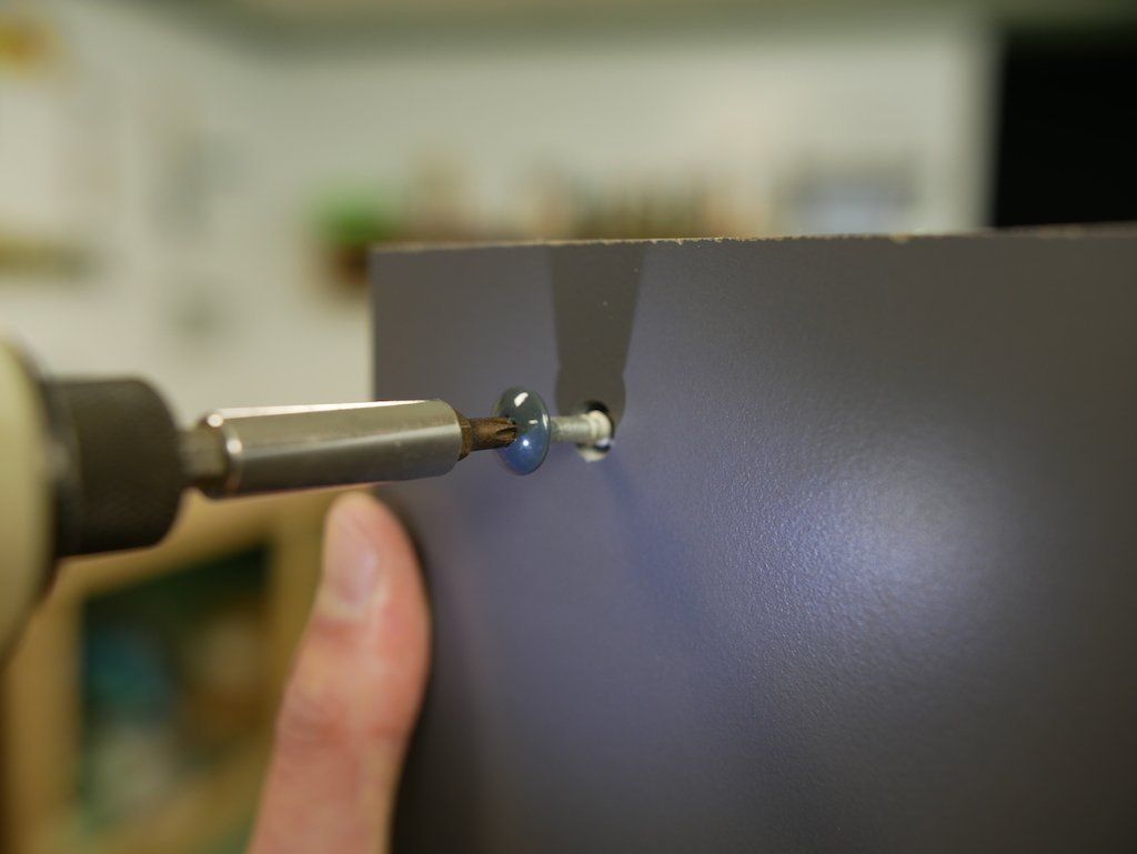 Parcel box drilling HPL