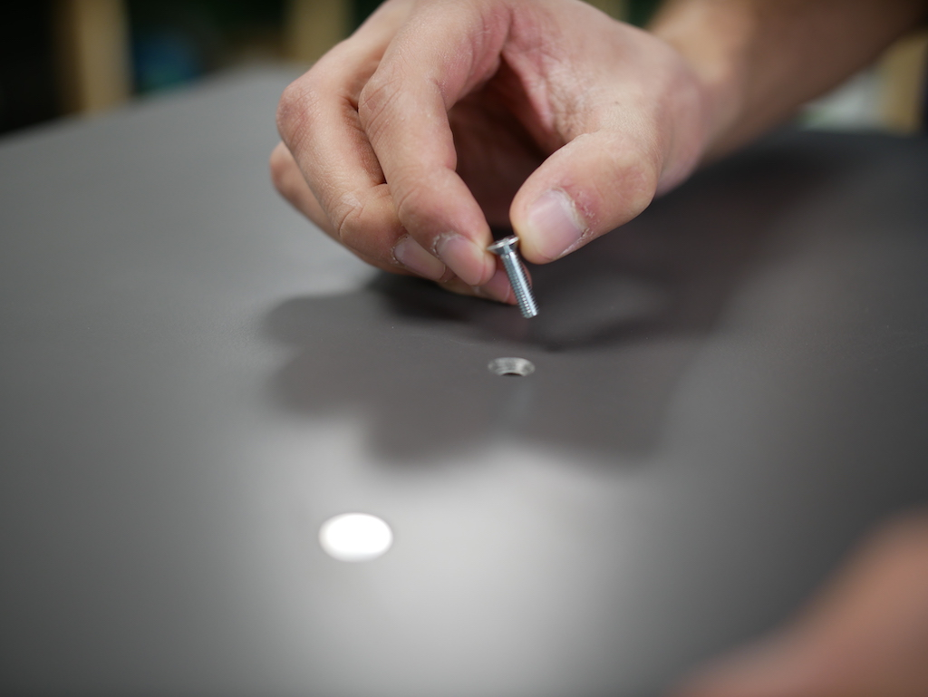 countersinking the screws