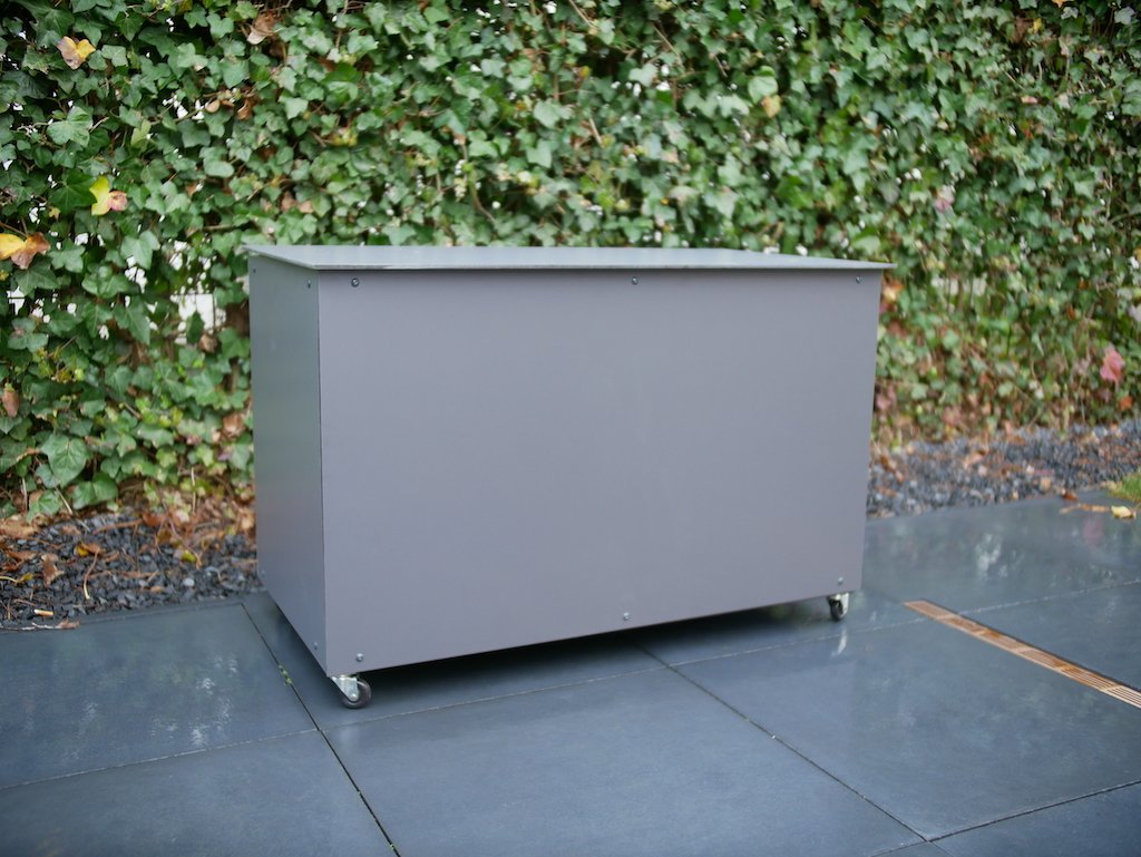 DIY outdoor cushion storage box