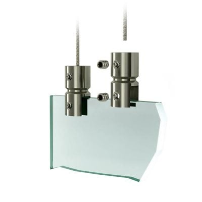 Stainless steel panel holder - Hanging system for acrylic screen