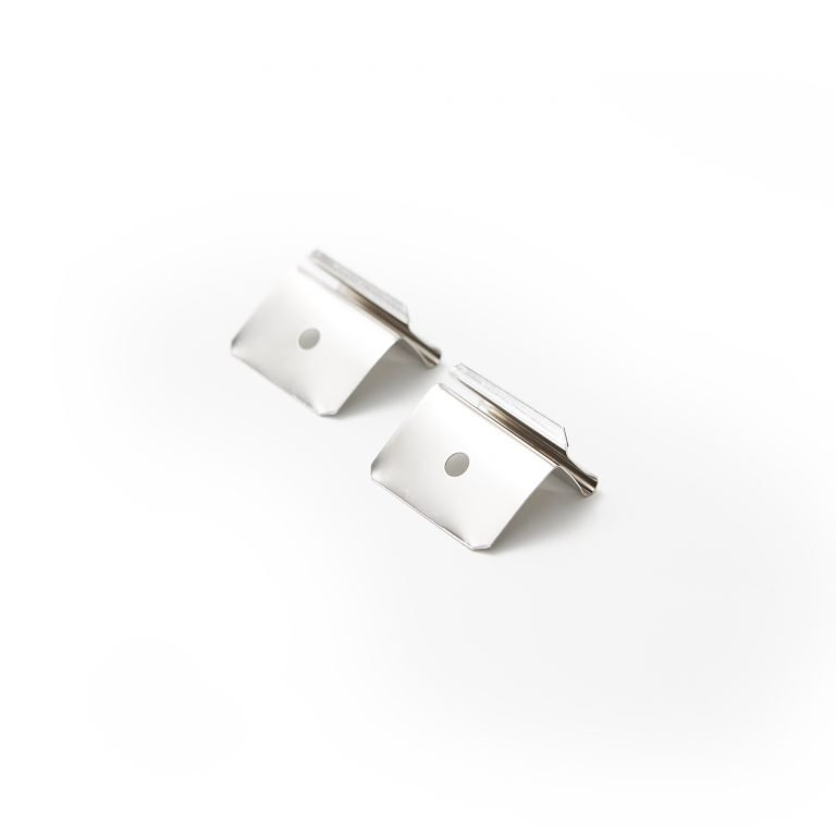 Ceiling clip set for acrylic screen