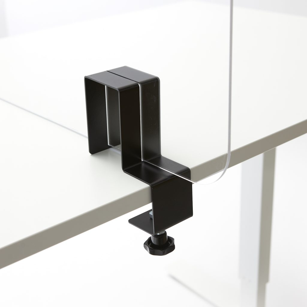 Steel clamp for perspex screen