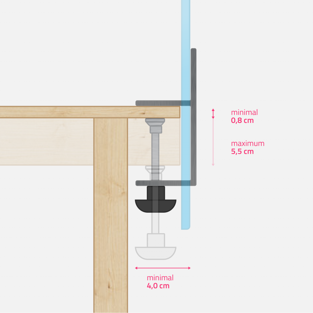 Technical drawing - steel clamp big