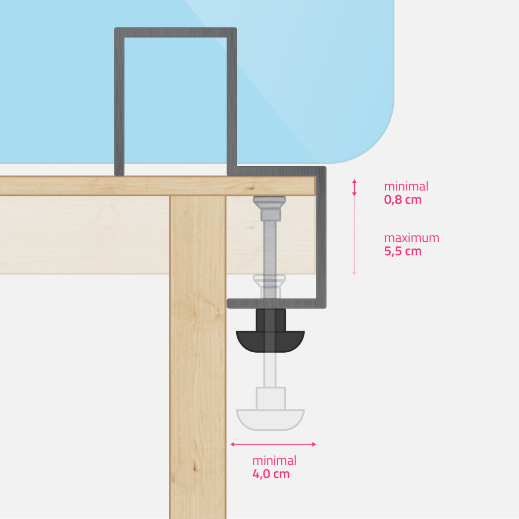 Technical drawing - steel clamp small