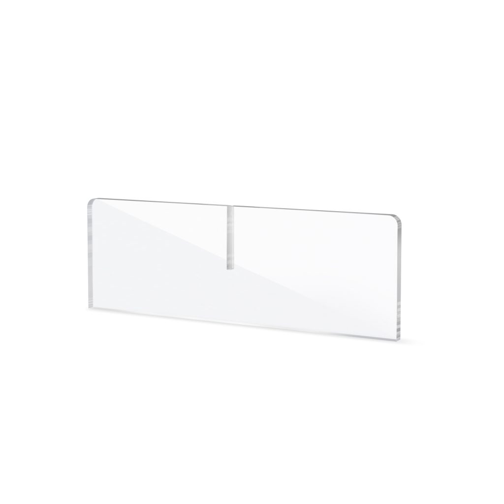 Perspex base for counter screen