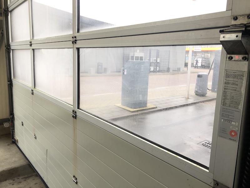 overhead door safety glass