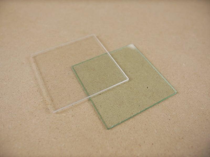 Glass or plexiglass