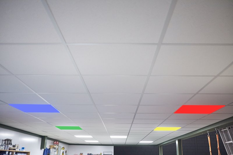 System ceiling pimping led panels
