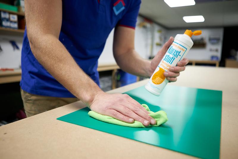 cleaning foamed pvc