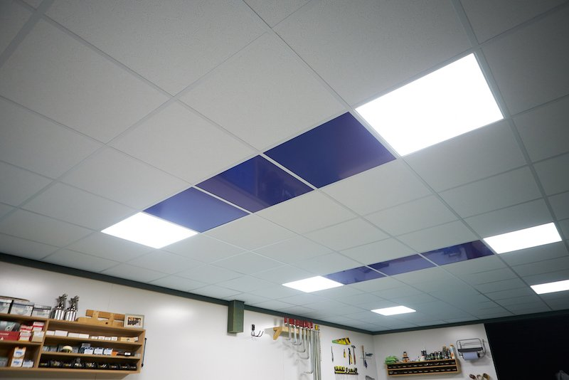 customised supended ceiling coloured acp